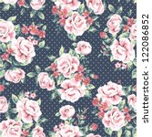 seamless wallpaper vintage... | Shutterstock .eps vector #122086852