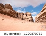 red mountains of the canyon of... | Shutterstock . vector #1220870782