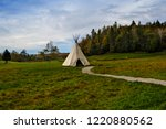 traditional tipi in autumn | Shutterstock . vector #1220880562