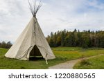traditional tipi in autumn | Shutterstock . vector #1220880565