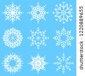collection of artistic icy... | Shutterstock . vector #1220889655