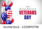 veterans day in united states.... | Shutterstock .eps vector #1220893708