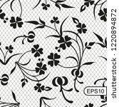 seamless lace background with... | Shutterstock .eps vector #1220894872