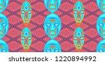 seamless folk pattern. ethnic...   Shutterstock .eps vector #1220894992