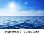 Stock photo beautiful sky and blue ocean 122089855