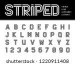 vector of modern alphabet... | Shutterstock .eps vector #1220911408