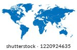 the world and guinea bissau map | Shutterstock .eps vector #1220924635