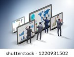 concept of business charts and... | Shutterstock . vector #1220931502