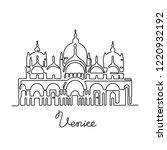 st mark's basilica. venice... | Shutterstock .eps vector #1220932192