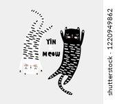 cute cat childish print.... | Shutterstock .eps vector #1220949862