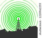 tower transmitter illustration | Shutterstock .eps vector #1220962255