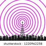 tower transmitter illustration | Shutterstock .eps vector #1220962258