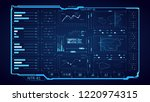 futuristic hud interface. the... | Shutterstock .eps vector #1220974315