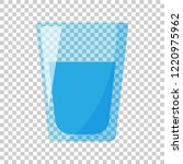 water glass icon in flat style. ... | Shutterstock .eps vector #1220975962