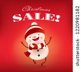 christmas sale vintage red... | Shutterstock .eps vector #1220981182