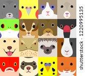 set of funny farm animals face   Shutterstock .eps vector #1220995135