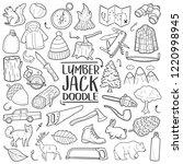 lumberjack forest traditional... | Shutterstock .eps vector #1220998945