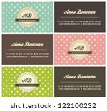 Set Of Retro Business Cards...
