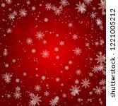 red christmas background.... | Shutterstock .eps vector #1221005212