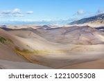 great sand dunes national park  ... | Shutterstock . vector #1221005308
