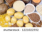 products containing complex... | Shutterstock . vector #1221022552