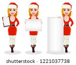 merry christmas. beautiful... | Shutterstock .eps vector #1221037738