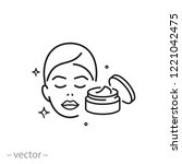 skin care icon  cosmetic cream  ... | Shutterstock .eps vector #1221042475