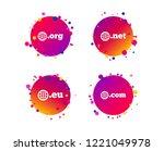 top level internet domain icons.... | Shutterstock .eps vector #1221049978