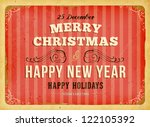 vintage christmas card with... | Shutterstock .eps vector #122105392