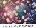 abstract light bokeh background.... | Shutterstock . vector #1221055432