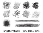 hand drawn lines on isolated...   Shutterstock .eps vector #1221062128