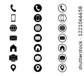 contact icon in modern flat... | Shutterstock .eps vector #1221066658