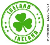 ireland round stamp isolated on ... | Shutterstock .eps vector #1221076735