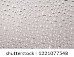 clear water drops transparent... | Shutterstock . vector #1221077548