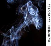 thick smoke on a black isolated ... | Shutterstock . vector #1221077572