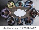hipster business teamwork... | Shutterstock . vector #1221085612