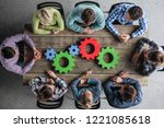 business people with colorful... | Shutterstock . vector #1221085618