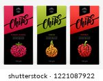 vector set templates packaging... | Shutterstock .eps vector #1221087922