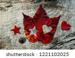 love for autumn. snowflakes in...   Shutterstock . vector #1221102025