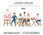 office presentation. conference ...   Shutterstock .eps vector #1221102802