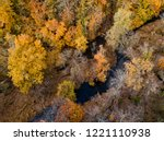 aerial drone image of colorful...   Shutterstock . vector #1221110938