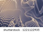 abstract polygonal space low... | Shutterstock . vector #1221122935