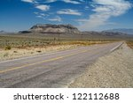 Small photo of Lonely street at the Mount Jackson in Nevada - USA