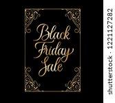 black friday sale golden text... | Shutterstock .eps vector #1221127282