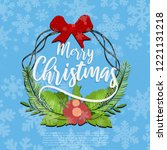 merry christmas design with... | Shutterstock .eps vector #1221131218