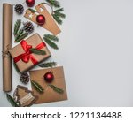 new year or christmas concept... | Shutterstock . vector #1221134488