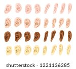 ear vector human eardrum ear... | Shutterstock .eps vector #1221136285