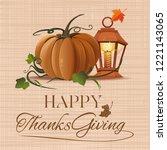thanksgiving day design. autumn ... | Shutterstock .eps vector #1221143065