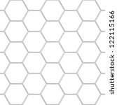 white hexagon texture | Shutterstock .eps vector #122115166