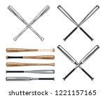 assorted simple baseball bats | Shutterstock .eps vector #1221157165
